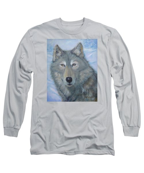 Portrait Of A Wolf Long Sleeve T-Shirt