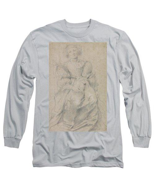 Portrait Of Helene Fourment Long Sleeve T-Shirt