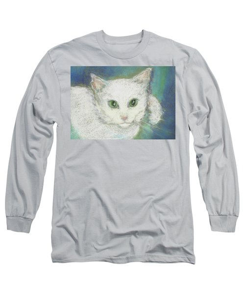 Long Sleeve T-Shirt featuring the drawing Portrait Of Misty by Denise Fulmer