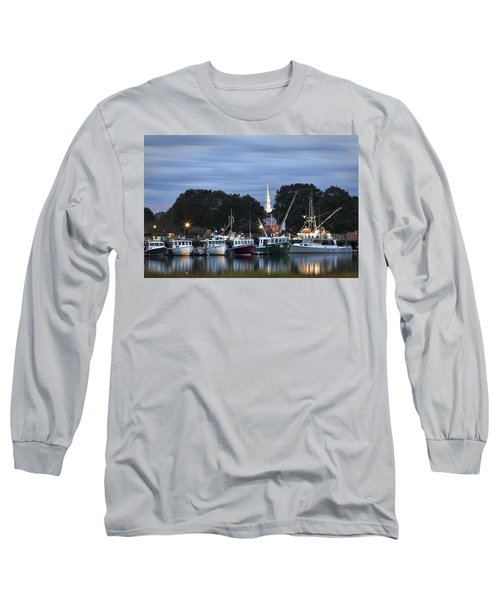 Portsmouth Fish Pier Long Sleeve T-Shirt