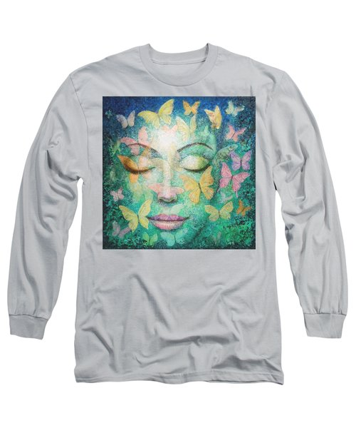 Long Sleeve T-Shirt featuring the painting Possibilities Meditation by Sue Halstenberg