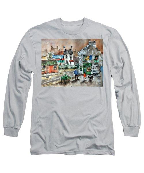 Post Office Mural In Ennistymon Clare Long Sleeve T-Shirt