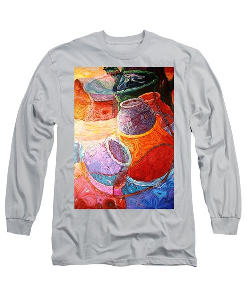 Pot Of Life Long Sleeve T-Shirt by Bankole Abe