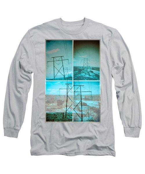 Power Line Patriots Long Sleeve T-Shirt by Bartz Johnson