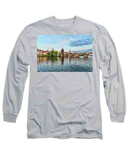 Prague From The River Long Sleeve T-Shirt