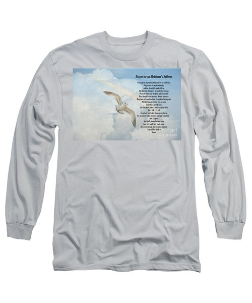 Prayer For An Alzheimer's Sufferer Long Sleeve T-Shirt by Bonnie Barry