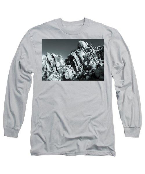 Precious Moment - Juxtaposed Rocks Joshua Tree National Park Long Sleeve T-Shirt