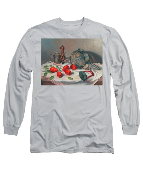 Preparing The Sauce Long Sleeve T-Shirt