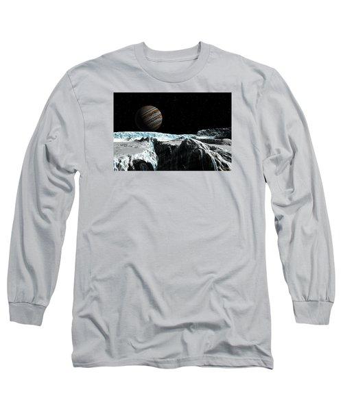 Pressure Ridge On Europa Long Sleeve T-Shirt by David Robinson