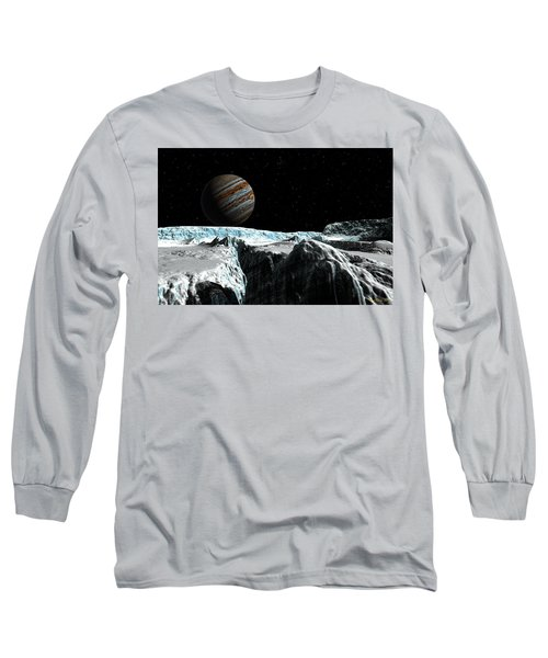 Pressure Ridge On Europa Long Sleeve T-Shirt