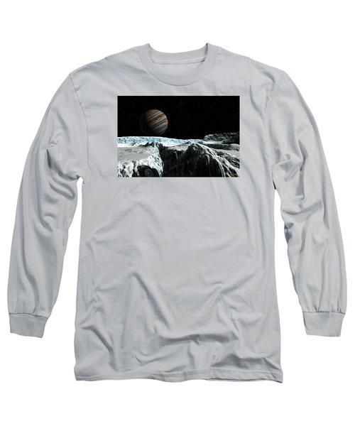 Pressure Ridge On Europa Long Sleeve T-Shirt