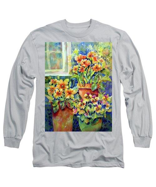 Primroses And Pansies II Long Sleeve T-Shirt