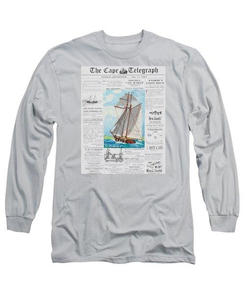 Privateer Off Charleston, Sc Long Sleeve T-Shirt by Bill Hubbard