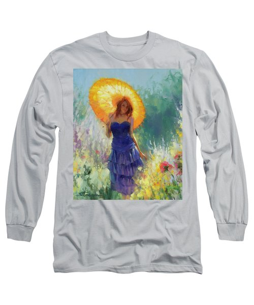 Long Sleeve T-Shirt featuring the painting Promenade by Steve Henderson