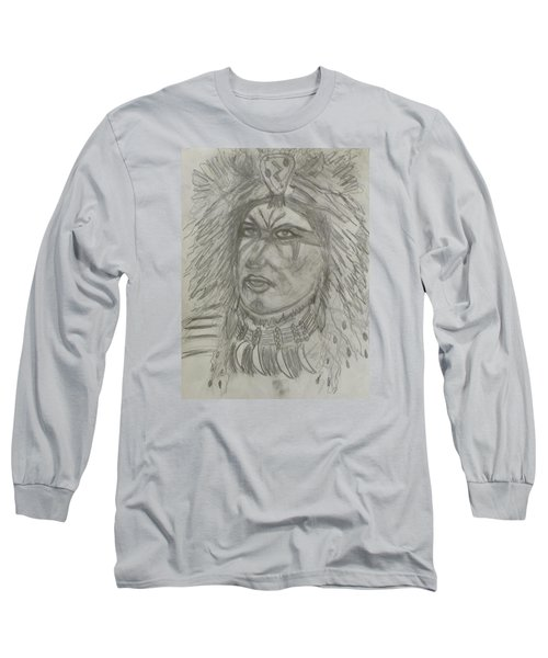 Long Sleeve T-Shirt featuring the drawing Proud Nation by Sharyn Winters