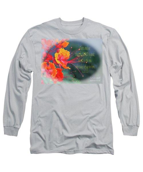 Psalm 34 V 8 Long Sleeve T-Shirt