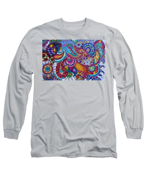 Psychedelic Paisley Long Sleeve T-Shirt