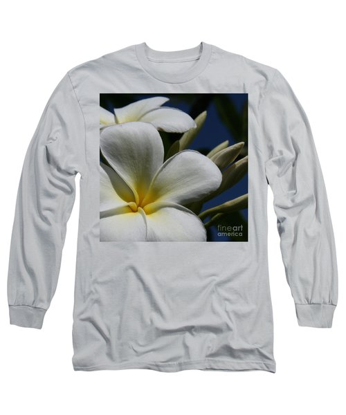Pua Lena Pua Lei Aloha Tropical Plumeria Maui Hawaii Long Sleeve T-Shirt