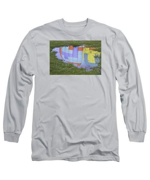 Long Sleeve T-Shirt featuring the photograph Puddle Reflections by Linda Geiger