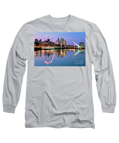 Puerto Madero I Long Sleeve T-Shirt by Bernardo Galmarini
