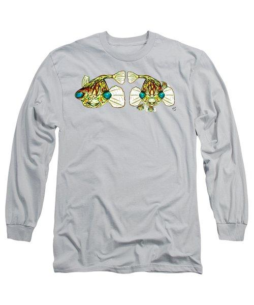 Puffer Fish Lary Loretta And Mini Puffs Long Sleeve T-Shirt