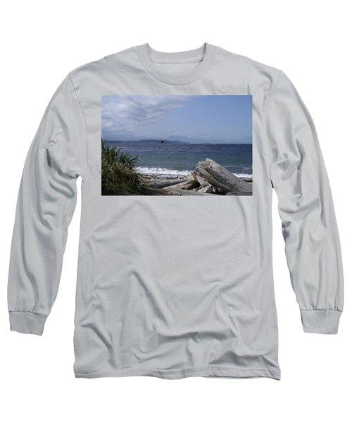 Puget Sound Long Sleeve T-Shirt by Henri Irizarri