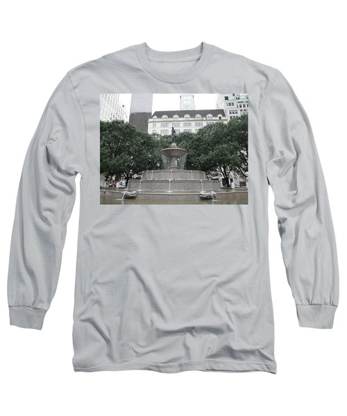 Pulitzer Fountain Long Sleeve T-Shirt by Valerie Ornstein