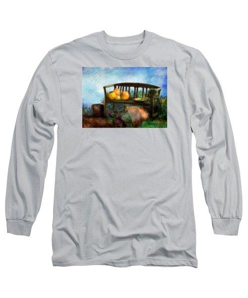 Pumpkin Harvest Respite Long Sleeve T-Shirt by Colleen Taylor