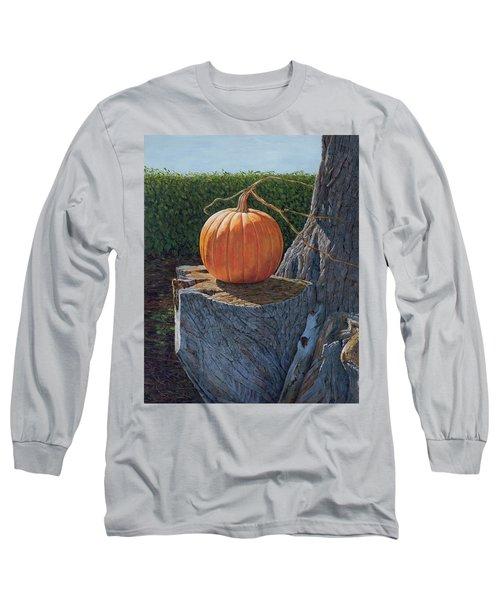 Pumpkin On A Dead Willow Long Sleeve T-Shirt