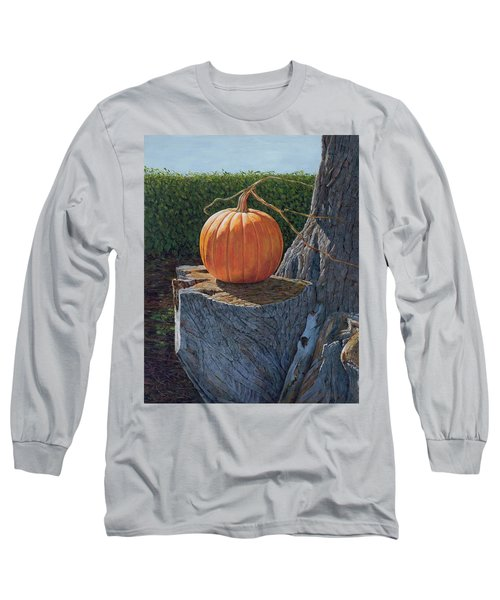 Pumpkin On A Dead Willow Long Sleeve T-Shirt
