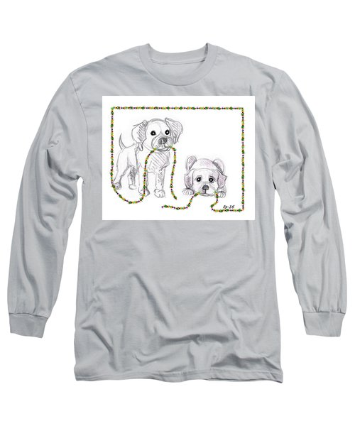 Puppies Greeting Card Long Sleeve T-Shirt