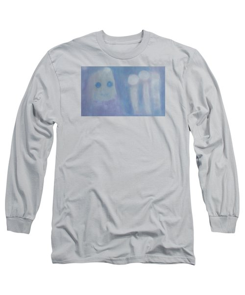 Pure Art As A Child, Smiling For Real Art Lovers Long Sleeve T-Shirt by Min Zou