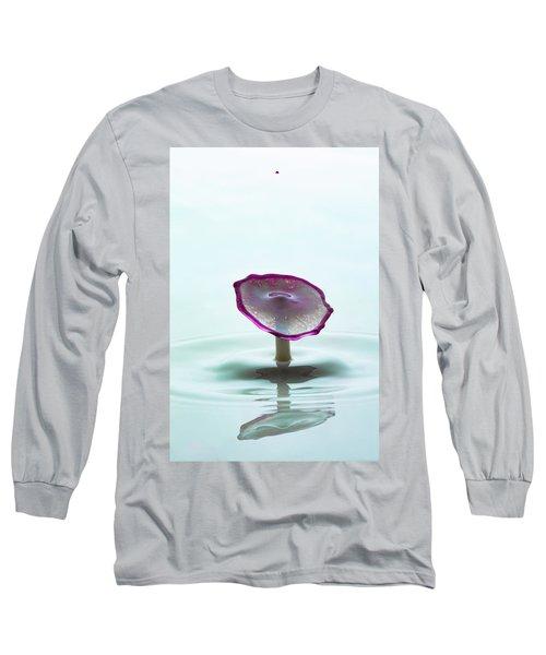 Purple Capped Drop Long Sleeve T-Shirt