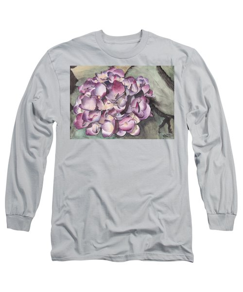 Purple Hydrangea Long Sleeve T-Shirt