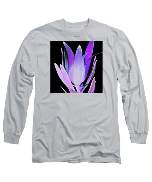 Long Sleeve T-Shirt featuring the photograph Purple by John Hansen