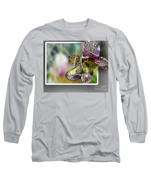 Purple Orchid Pop Long Sleeve T-Shirt