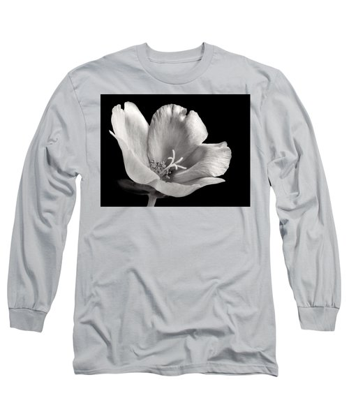 Long Sleeve T-Shirt featuring the photograph Purslane In Monochrome by David and Carol Kelly