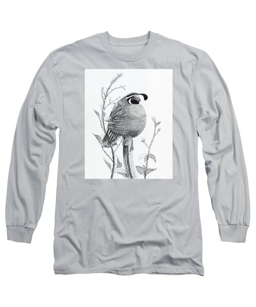 Quail Sentry Long Sleeve T-Shirt