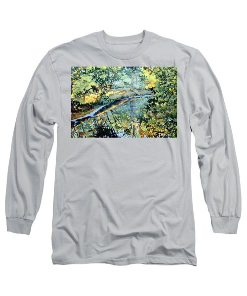 Quiet Stream Near Milk House Long Sleeve T-Shirt