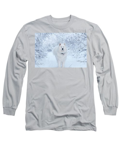 Quinn The Mighty Samoyed Long Sleeve T-Shirt