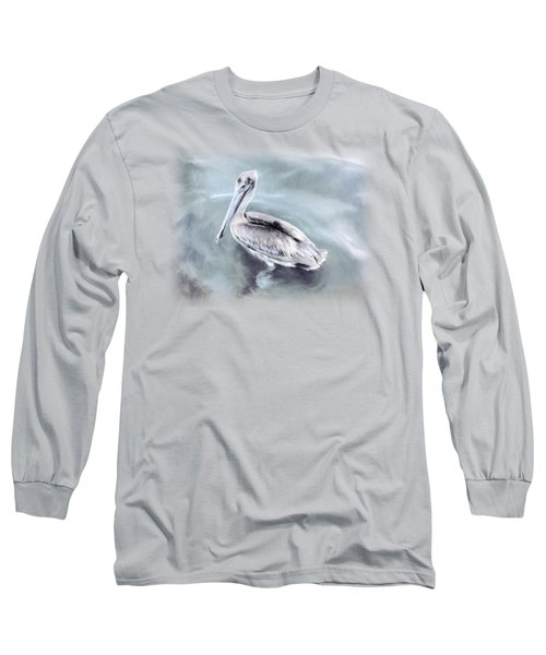 Radiant Pelican Long Sleeve T-Shirt by Korrine Holt