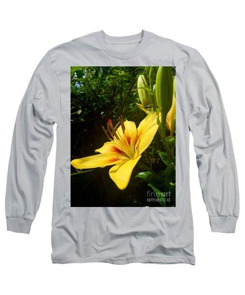 Rain Kissed Tiger Lily Long Sleeve T-Shirt