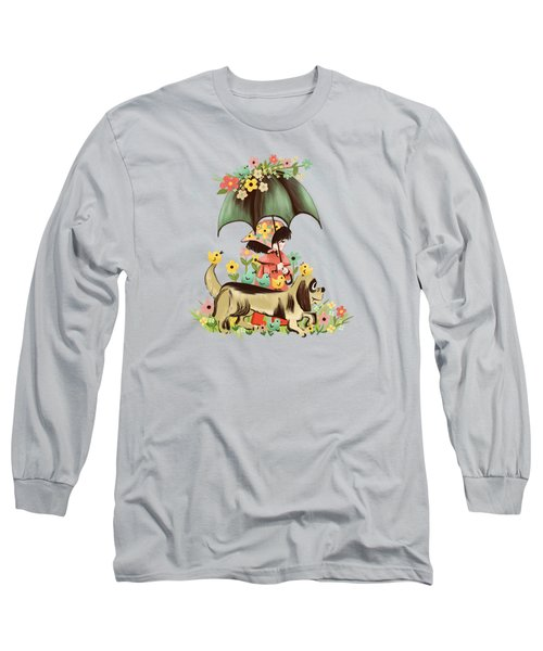 Rain On The Green Grass, Rain On The Tree, Rain On The Housetop, But Not On Me. Long Sleeve T-Shirt