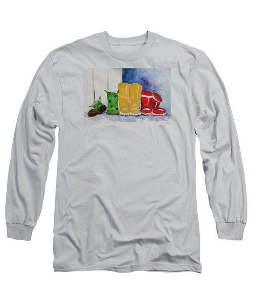 Rainboots Long Sleeve T-Shirt by Terri Einer
