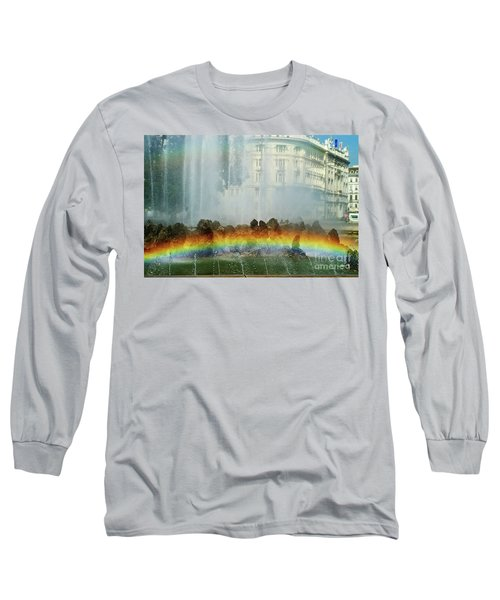 Long Sleeve T-Shirt featuring the photograph Rainbow Fountain In Vienna by Mariola Bitner