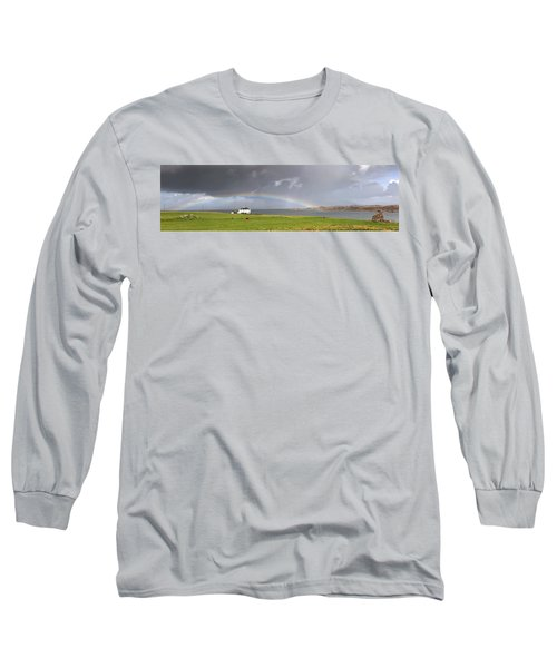 Rainbow, Island Of Iona, Scotland Long Sleeve T-Shirt