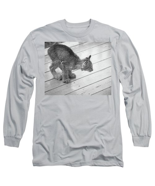 Crouching Kitty Long Sleeve T-Shirt