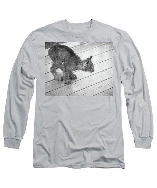 Crouching Kitty Long Sleeve T-Shirt
