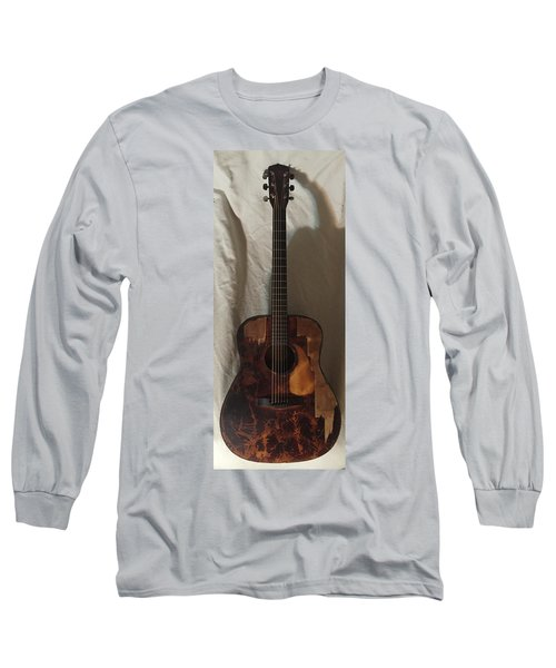 Rat Guitar 2 Front Long Sleeve T-Shirt by Steve  Hester