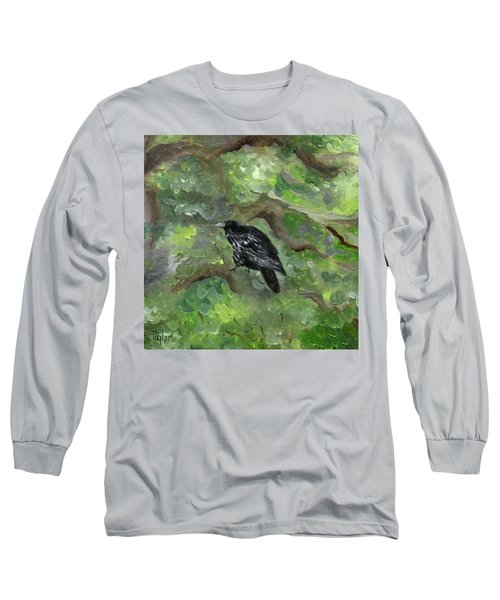 Raven In The Om Tree Long Sleeve T-Shirt